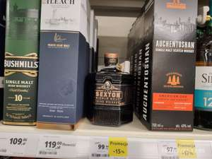 Whisky, Whiskey, Bourbon... Sexton 0,7 40 %. Tesco