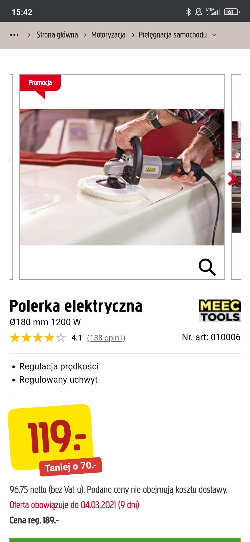Polerka elektryczna MEEC TOOLS Jula 1200W