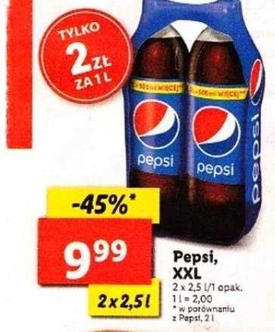 Pepsi 2x2,5 l za 9,99 zł w Lidlu