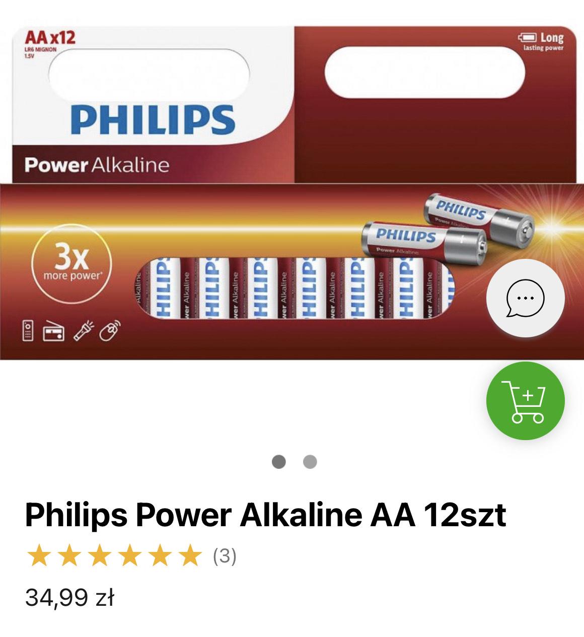 Baterie Philips Power Alkaline AA 12szt lub AAA