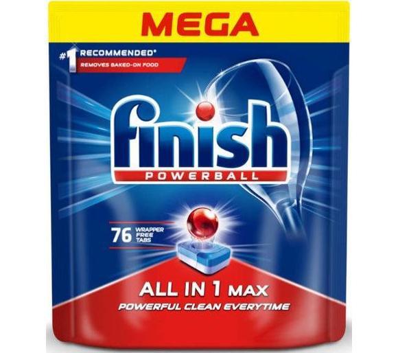 Tabletki do zmywarki Finish All in 1 Max (76 szt.), odb.os. 0zł