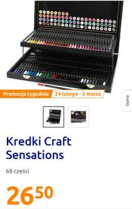 Kredki Craft Sensations 68 elementów. Action