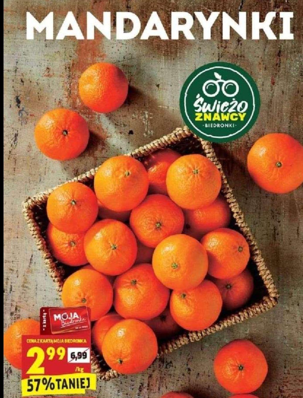Słodkie mandarynki 2.99 zł za 1 kg. Biedronka