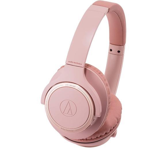 Słuchawki bezprzewodowe Audio-Technica ATH-SR30BT (do 70h na baterii, różowe) @ OleOle