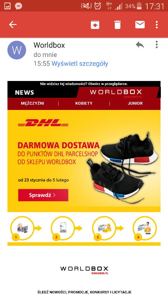 Darmowa dostawa DHL ze sklepu Worldbox