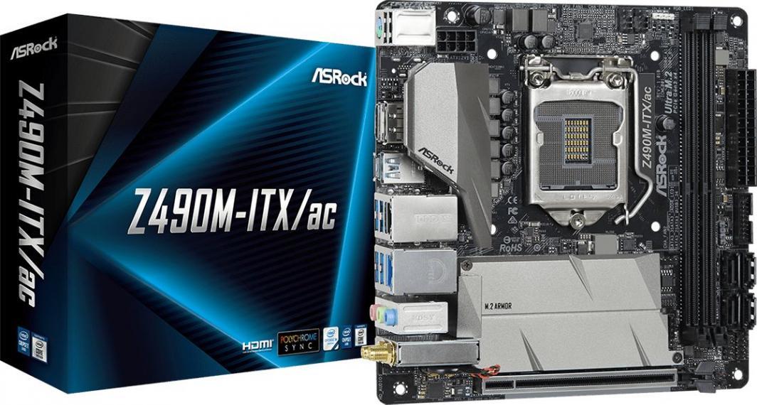 ASRock Z490M-ITX/AC - płyta główna z chipsetem Z490
