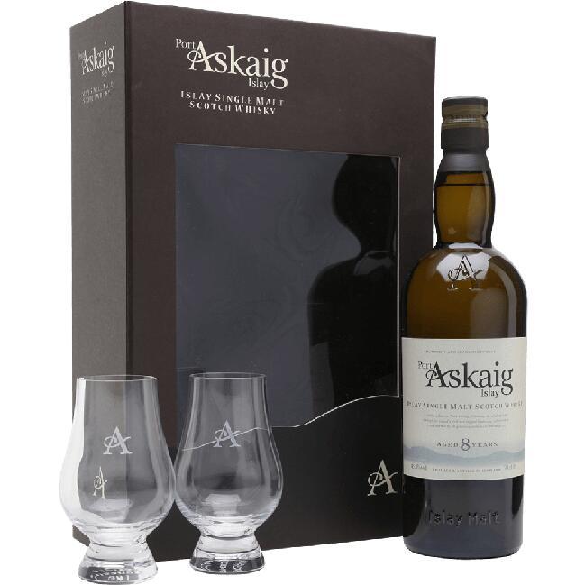 Whisky PORT ASKAIG 8Y 0,7L + Dwa kieliszki Glencairn - na Kukunawa.pl