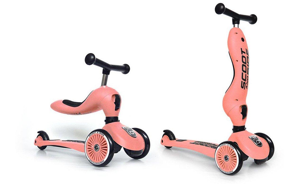 Scoot & Ride Highwaykick 1 Jeździk i hulajnoga 2w1 Peach