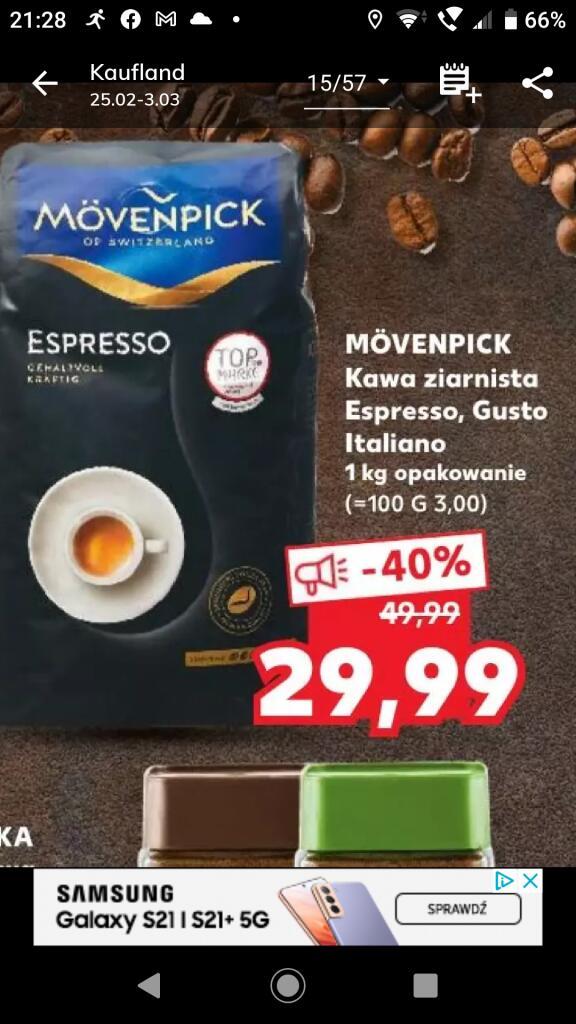 Kawa ziarnista Movenpick Espresso, Gusto, Italiano Kaufland