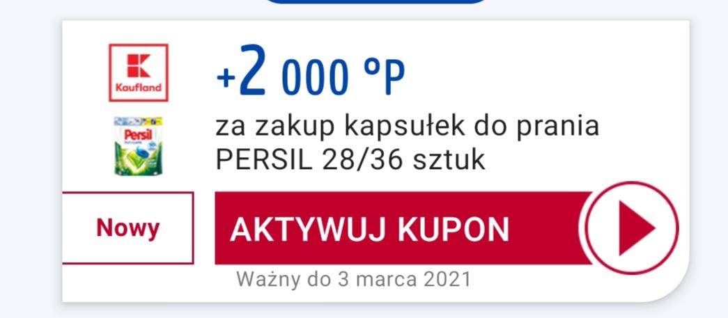 2000pkt Payback za zakup kapsułek Persil i 300pkt za zakup czekolady Nussbeisser 220g i 200pkt za 2 jogurty Danone Activia - Kaufland