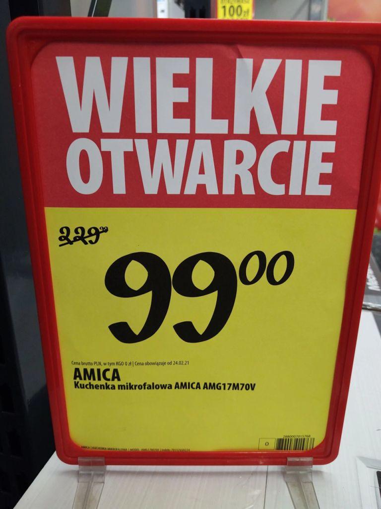 Mikrofala Amica AMG17M70V za jedyne 99 zł