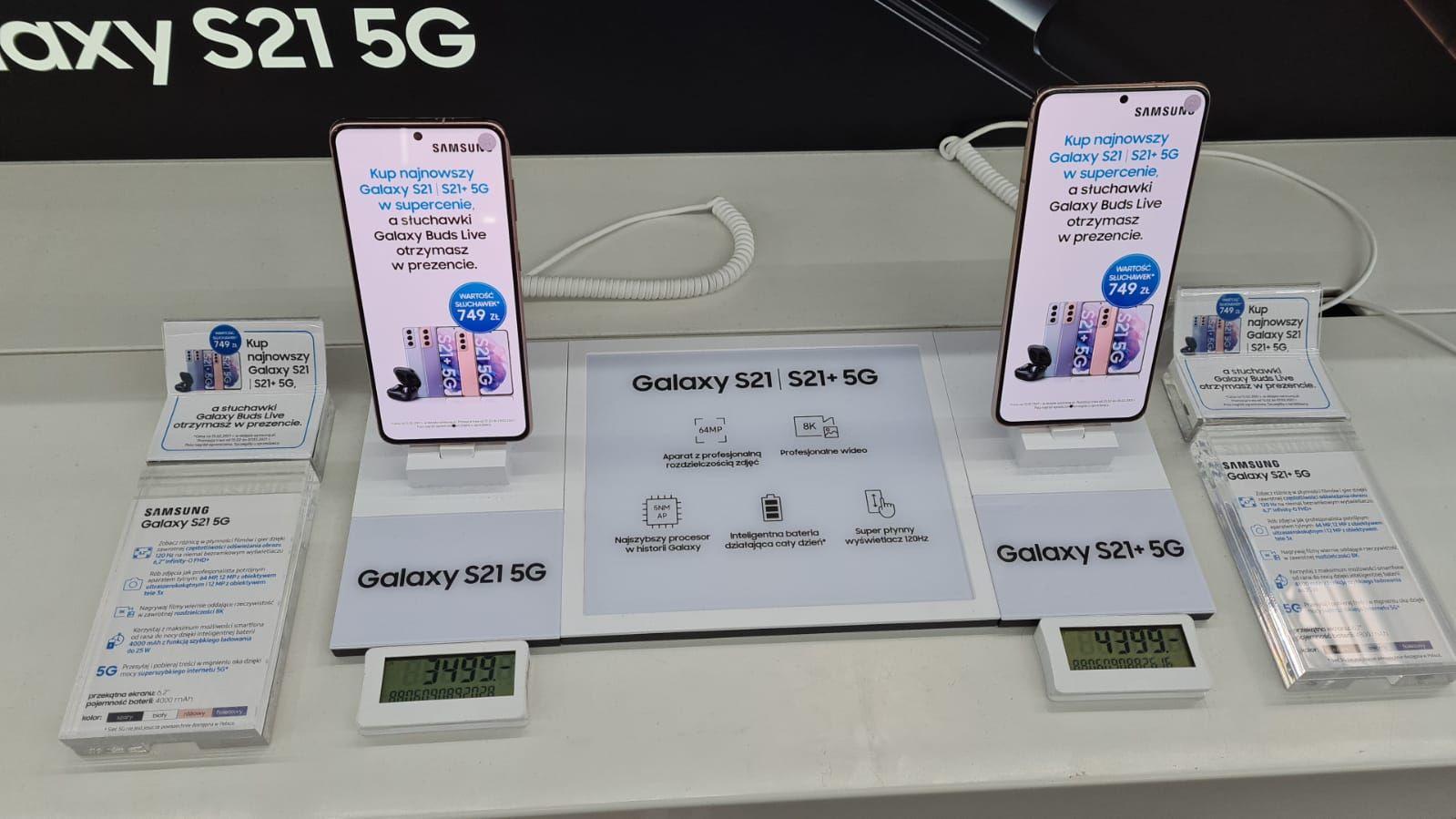 Samsung S21,s21+ 400zł taniej + 350zł bon + słuchawki buds live