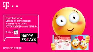 T-Mobile Happy Fridays rabat 14 zł na Cewe Fotoksiążkę Puree abo,mix,karta 26.02. - 28.02.