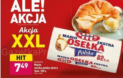Masło Osełka 82% 500 g (ok. 2,99 zł za 200 g) @Aldi