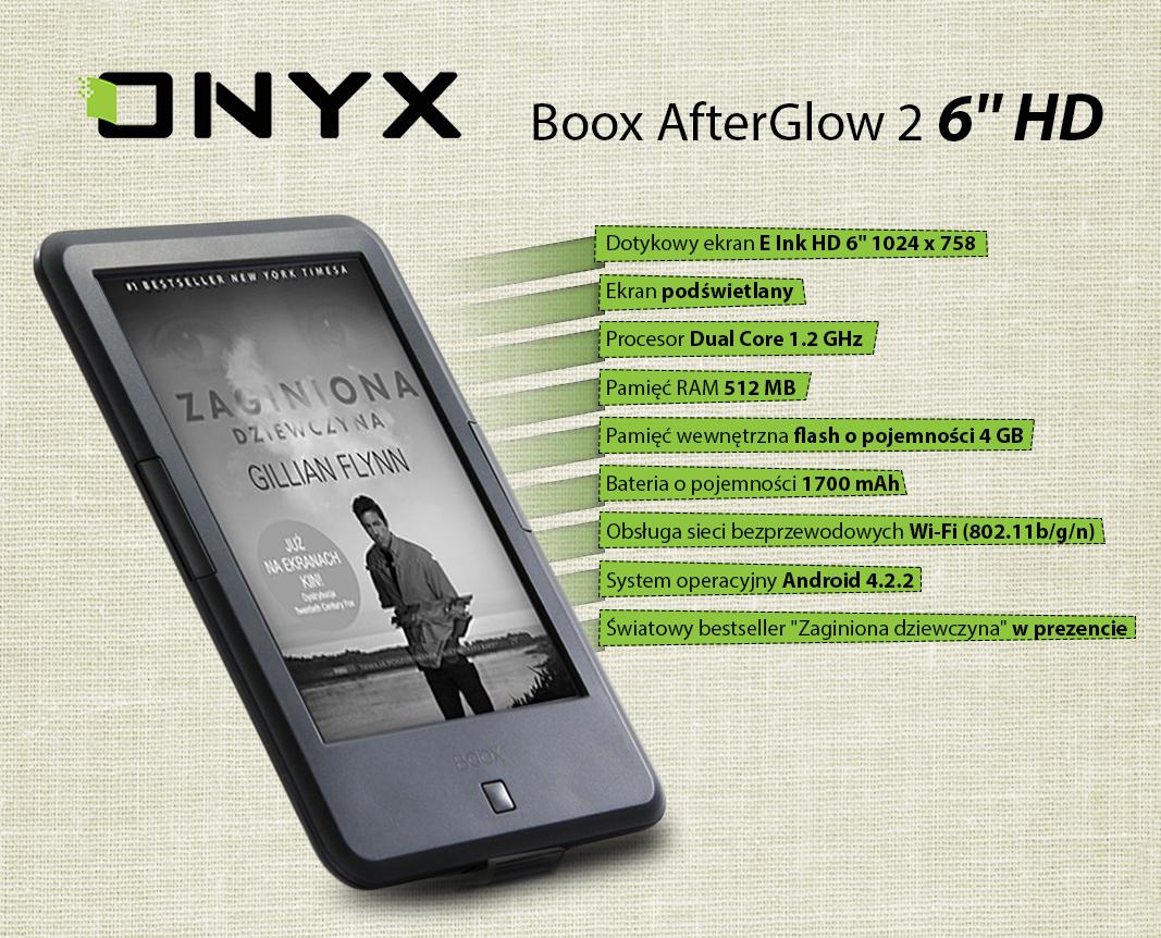 czytnik książek Onyx Boox Afterglow 2 HD + Zaginiona dziewczyna za 499zł @ Agito