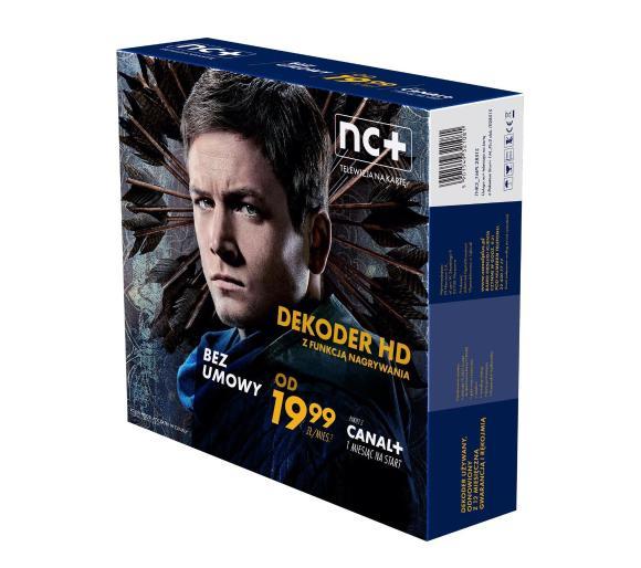nc+ telewizja na kartę (150 kanałów, 1 m-c na start z Canal+) - dekoder HD ITI2851S, odb.os.ozł