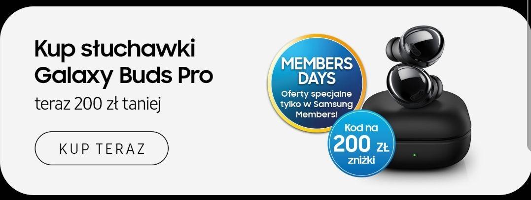 200pln taniej na Samsung Galaxy Buds Pro z kuponem Samsung Members