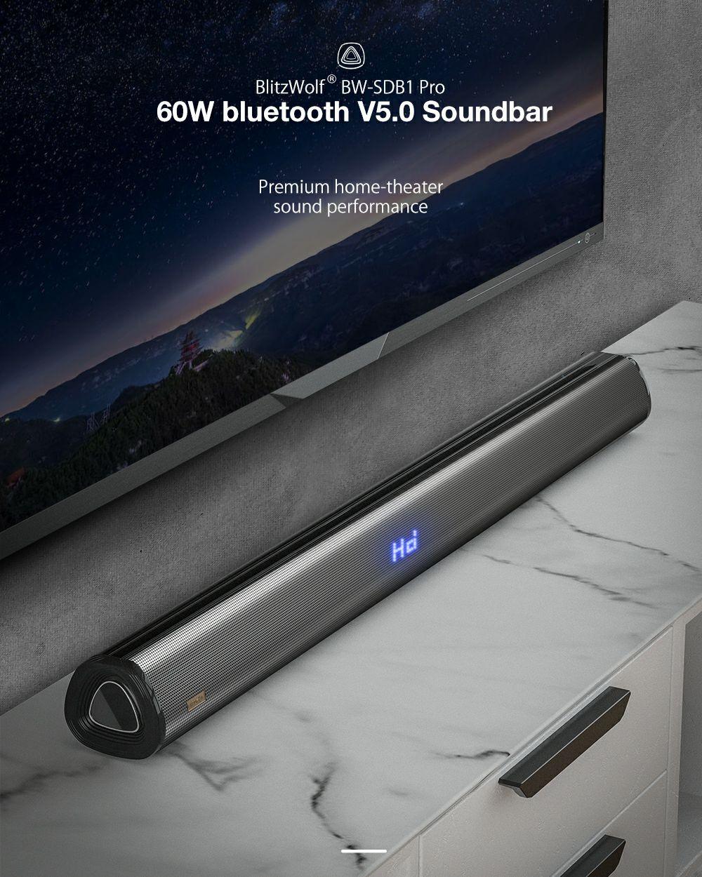 BlitzWolf® BW-SDB1 Pro soundbar wysyłka z Czech @Banggood