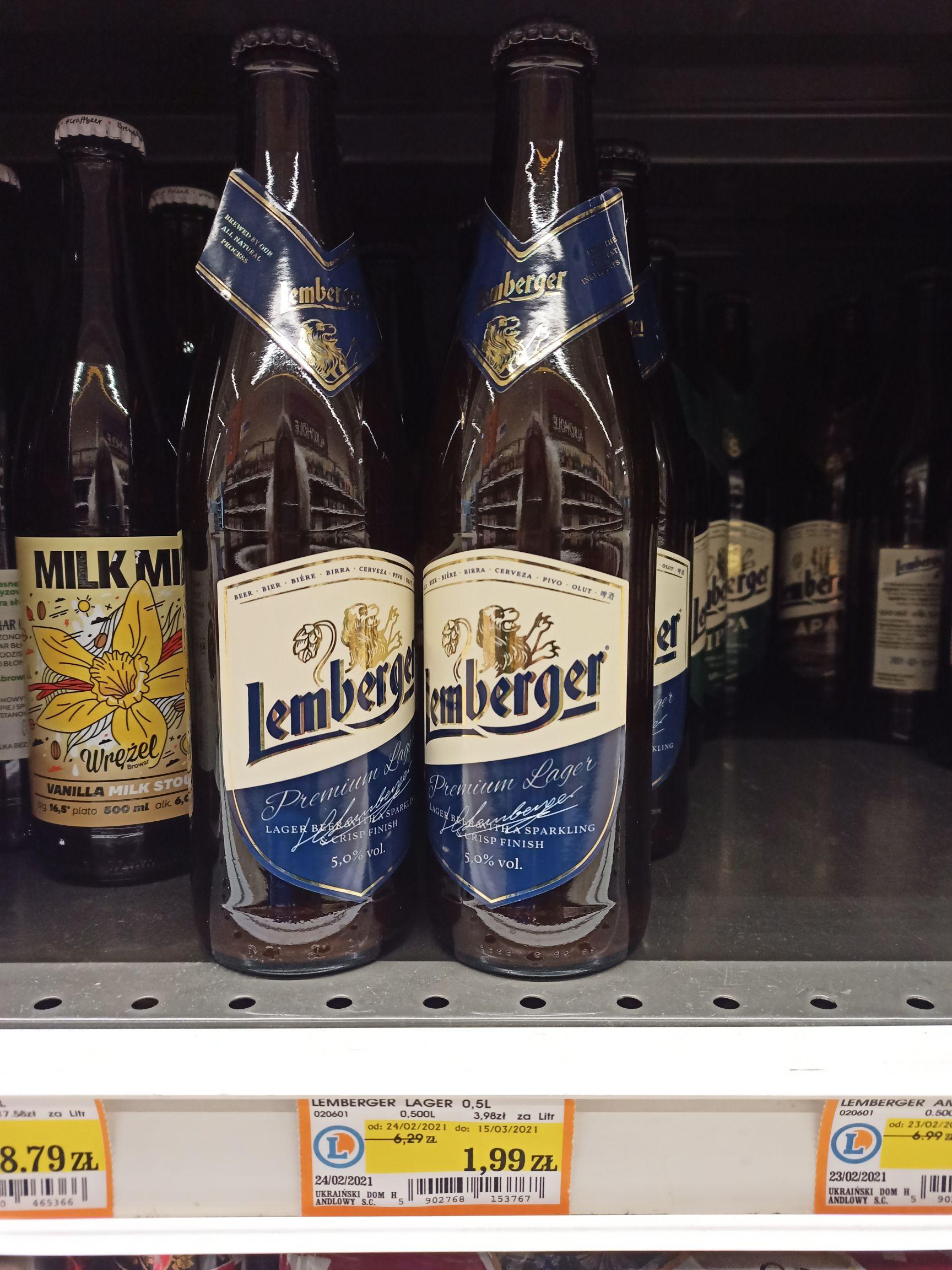 Piwo Lemberger Lager 0.5 @Leclerc