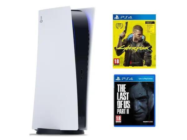 PlayStation 5 + CYBERPUNK 2077 Playstation 4 + The Last of Us Part II Playstation 4