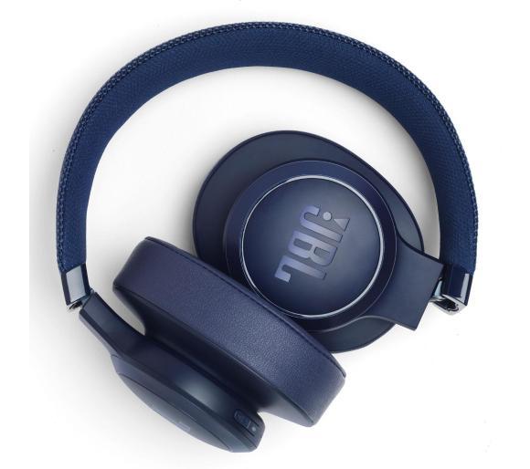 Słuchawki Bluetooth: JBL Live 500 bt (niebieskie i czerwone).