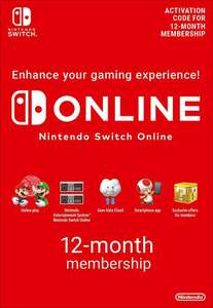 12 miesięcy abonamentu Nintendo Switch Online