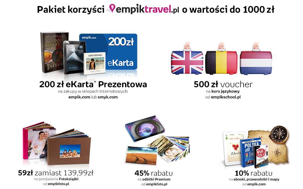 Pakiet korzyści - zarezerwuj wakacje a otrzymasz zniżki i vouchery! @ EmpikTravel