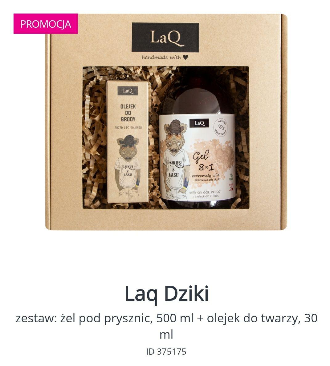 Męski zestaw LaQ żel pod prysznic, 500 ml + olejek do brody 30 ml
