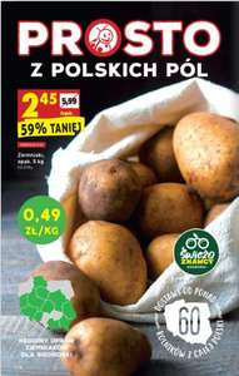 Ziemniaki, opakowanie 5kg - 2.45 PLN @Biedronka