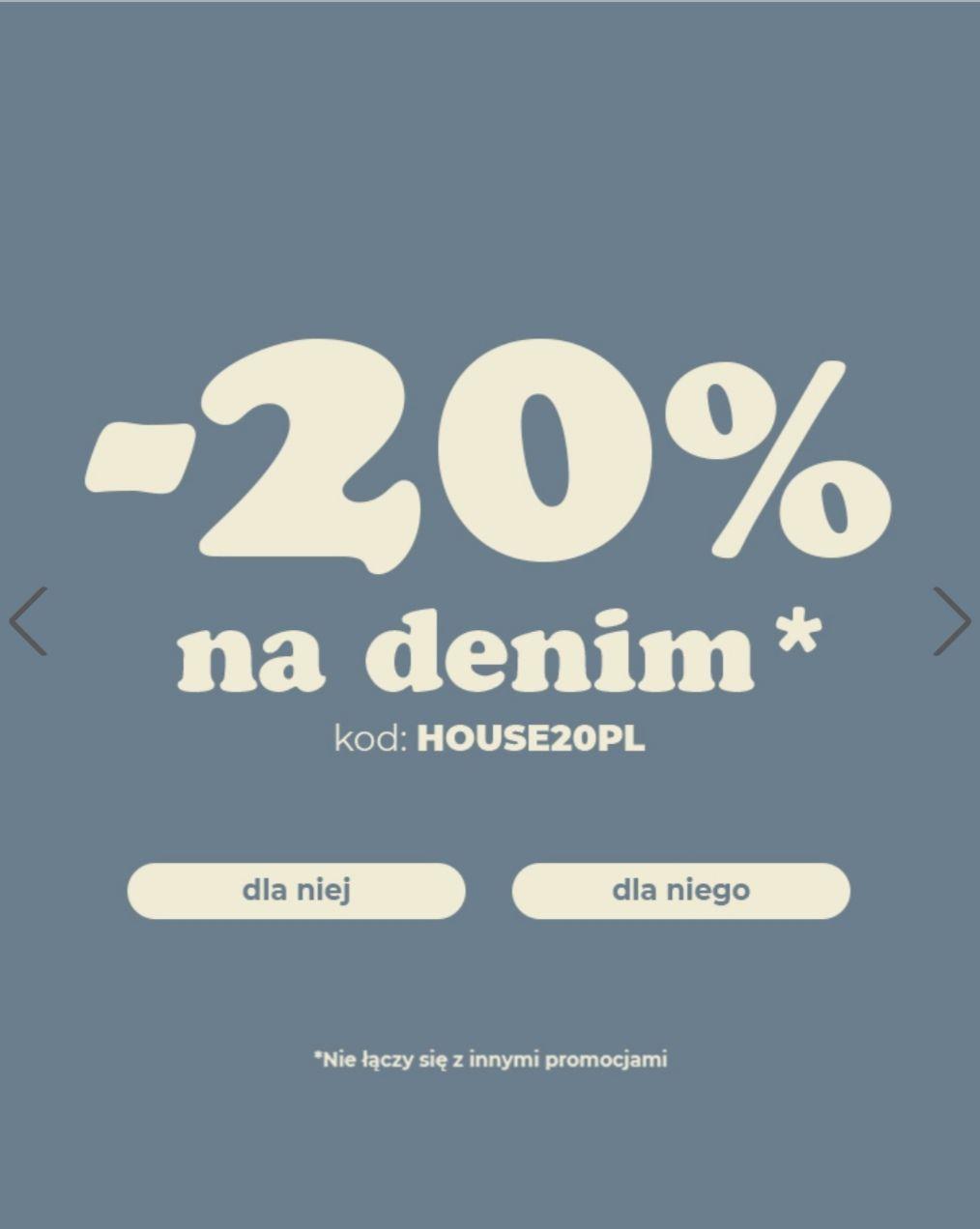 Denim Days - 20% w House, np. Denim owa kurtka męska