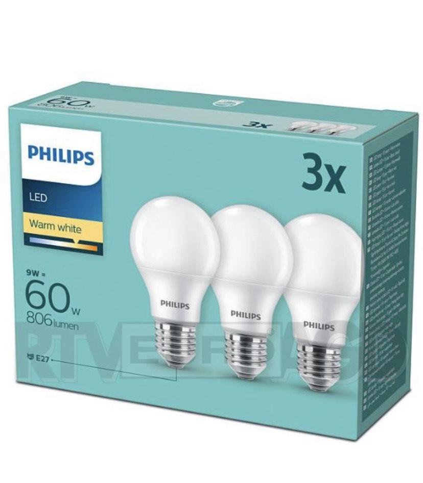 Żarówki Philips LED 9 W (60 W) E27 3 szt.