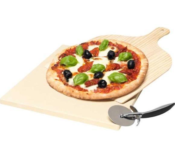 Zestaw do pieczenia pizzy Electrolux. Kamień + łopatka + nóz do pizzy