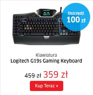 Klawiatura Logitech G19s Gaming Keyboard za 359zł oraz mysz G100s za 69zł ! @ X-Kom