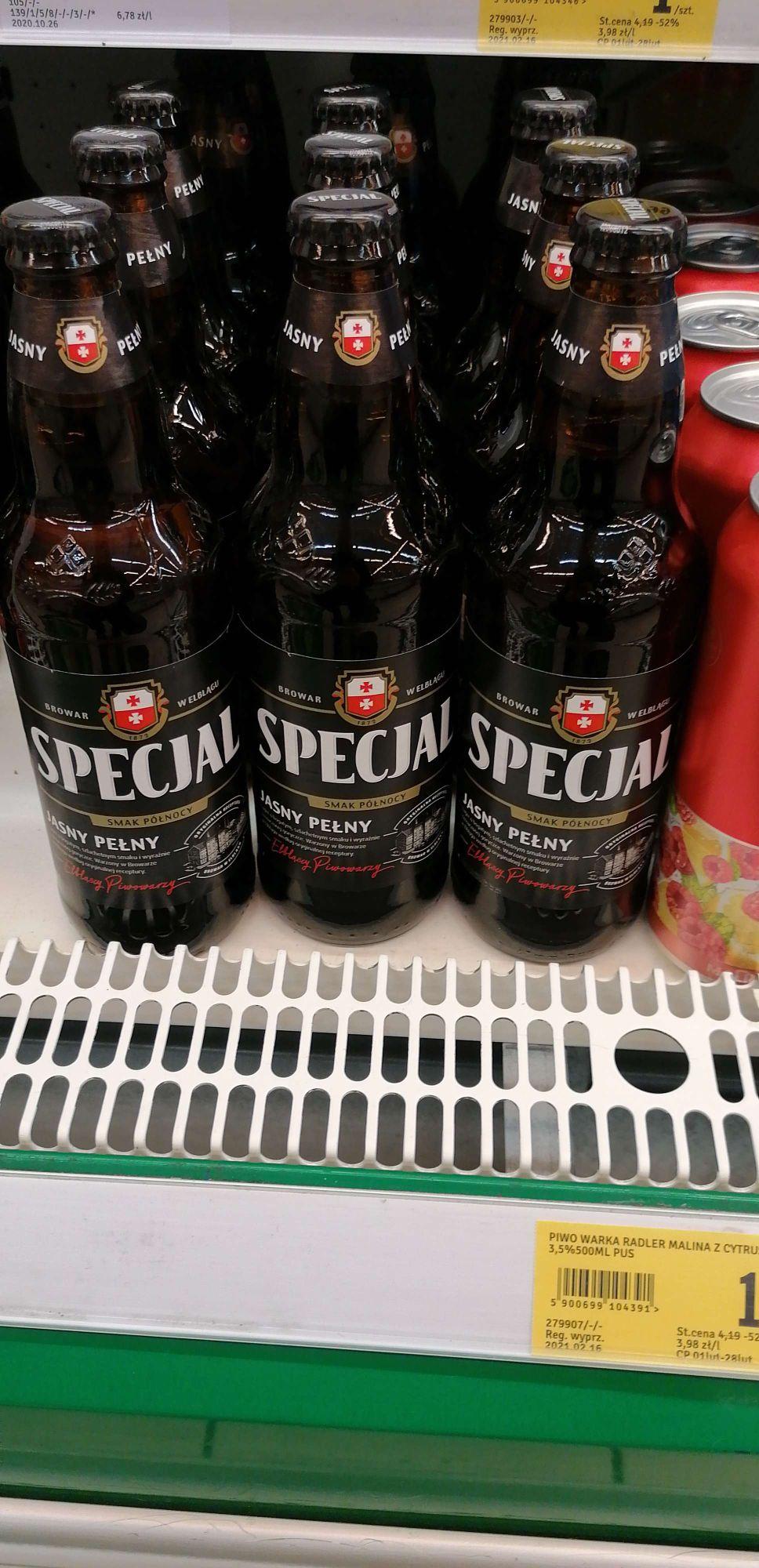 Piwo Specjal jasny pełny Stokrotka