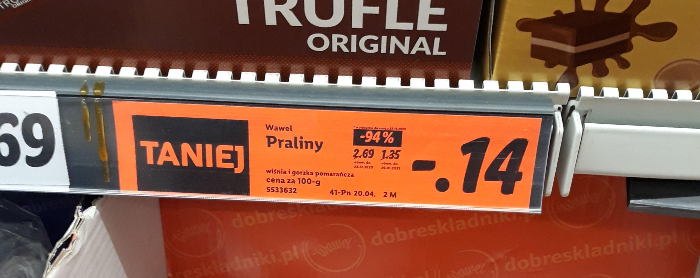 Lidl Wawel praliny gorzka czekolada / wiśnia
