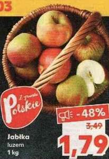 Jabłka luzem 1,79 zł/kg, brokuły 2,95 zł/szt @Kaufland