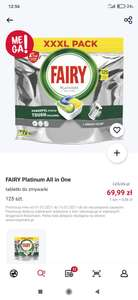 Tabletki do zmywarki Fairy Platinum 125szt. Rossmann