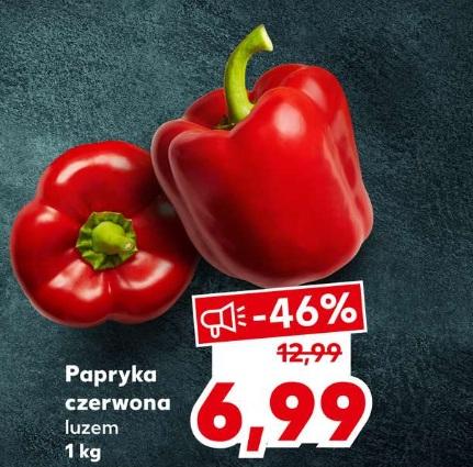 Papryka czerwona luzem Kaufland 6,99zł/kg