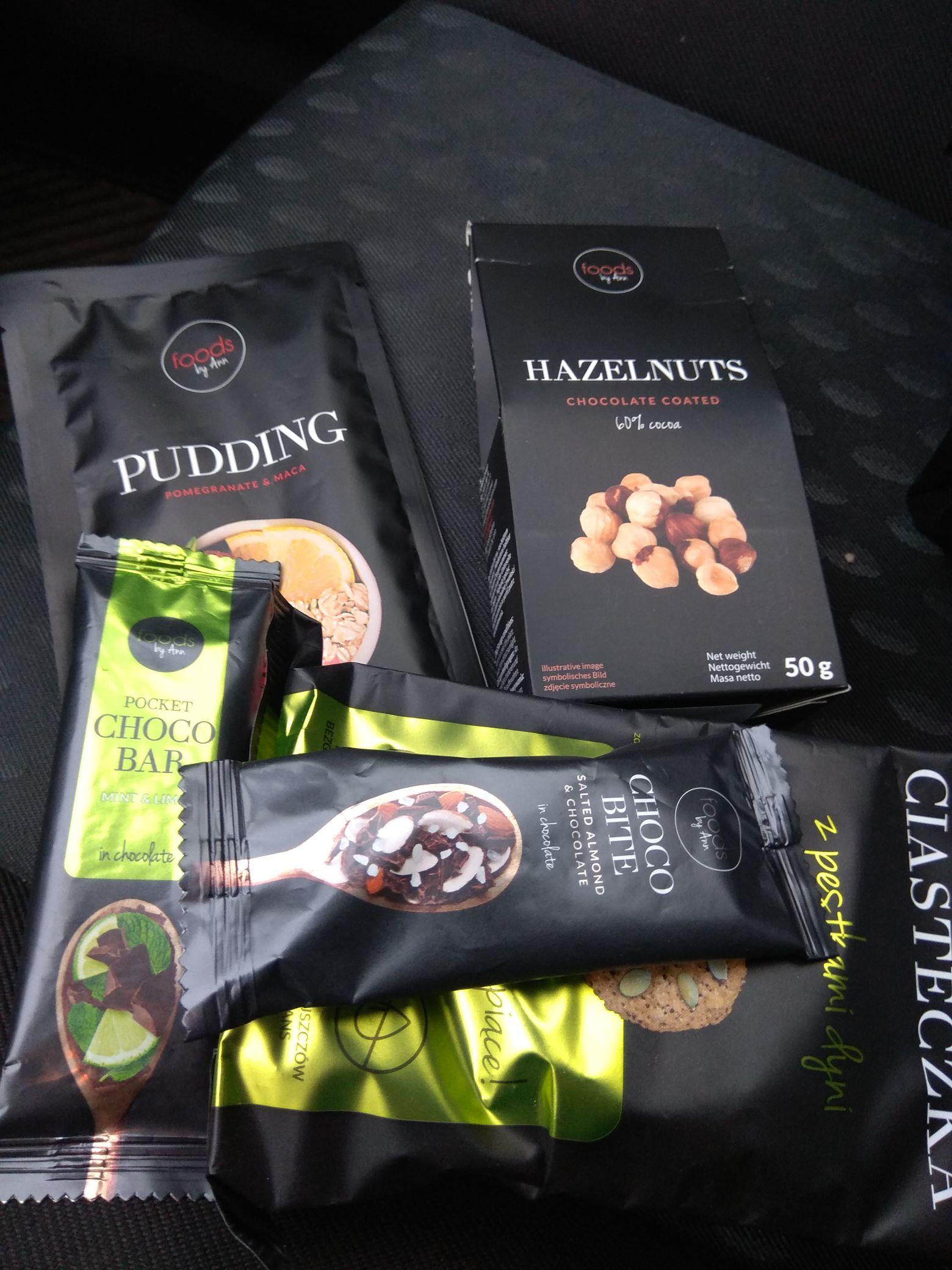 Foods by Ann za grosze. Batony/Ciastka/Pudding/Orzechy