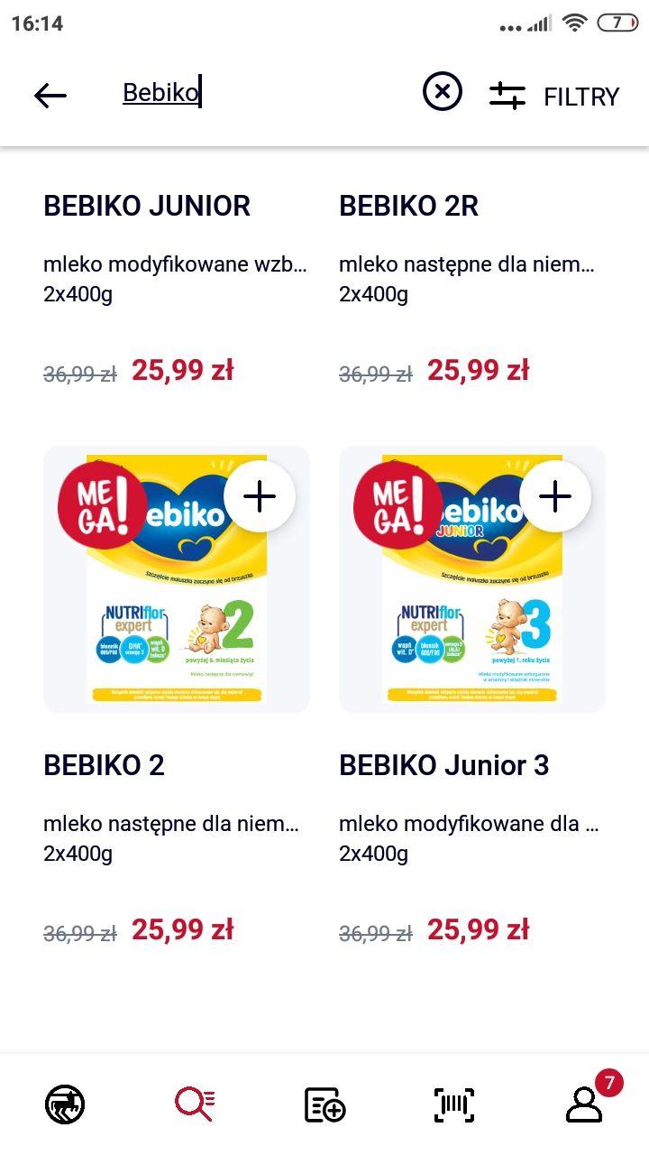 Mleko modyfikowane BEBIKO 800g (3,25zł/100g) Rossmann