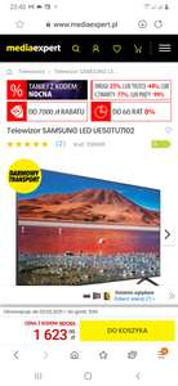 Telewizor SAMSUNG LED UE50TU7102