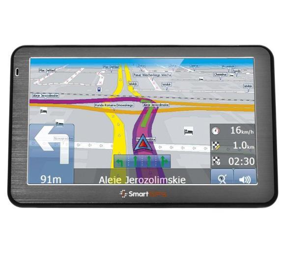Nawigacja samochodowa SmartGPS SG742 TT EU SMART, stacjonarnie, możliwe expo