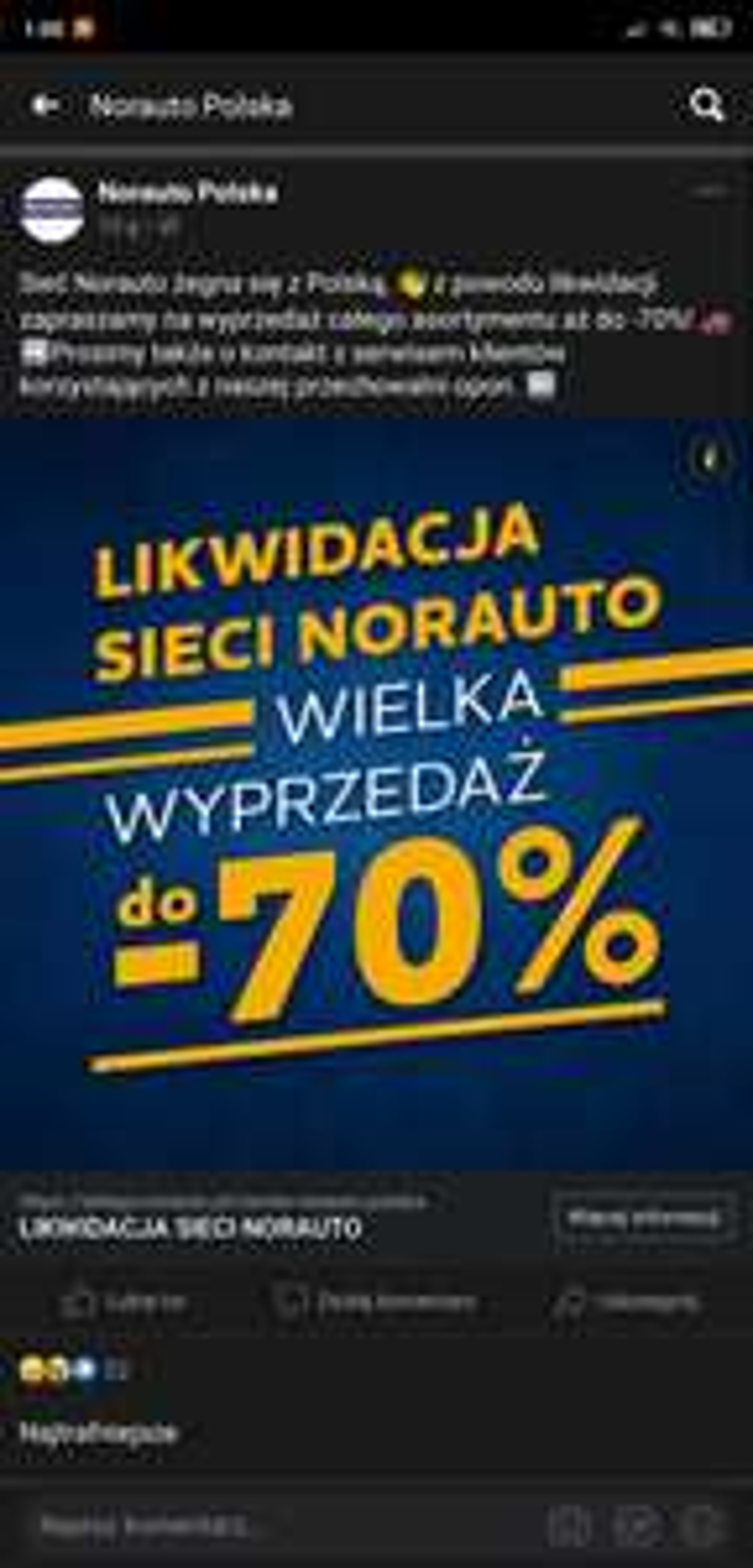 Norauto opuszcza Polskę rabaty do -70%