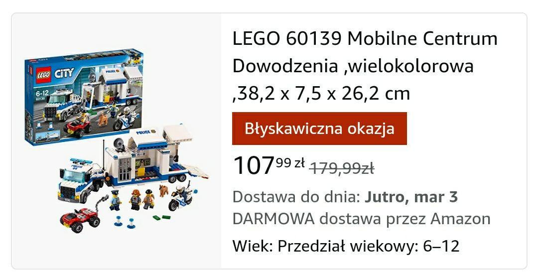 LEGO 60139 Mobilne Centrum Dowodzenia Amazon.pl