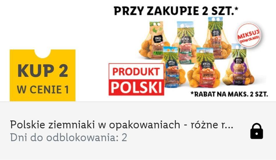 Ziemniaki pakowane 2 w cenie 1 - Lidl