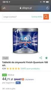 Tabletki do zmywarki Finish Quantum 100szt