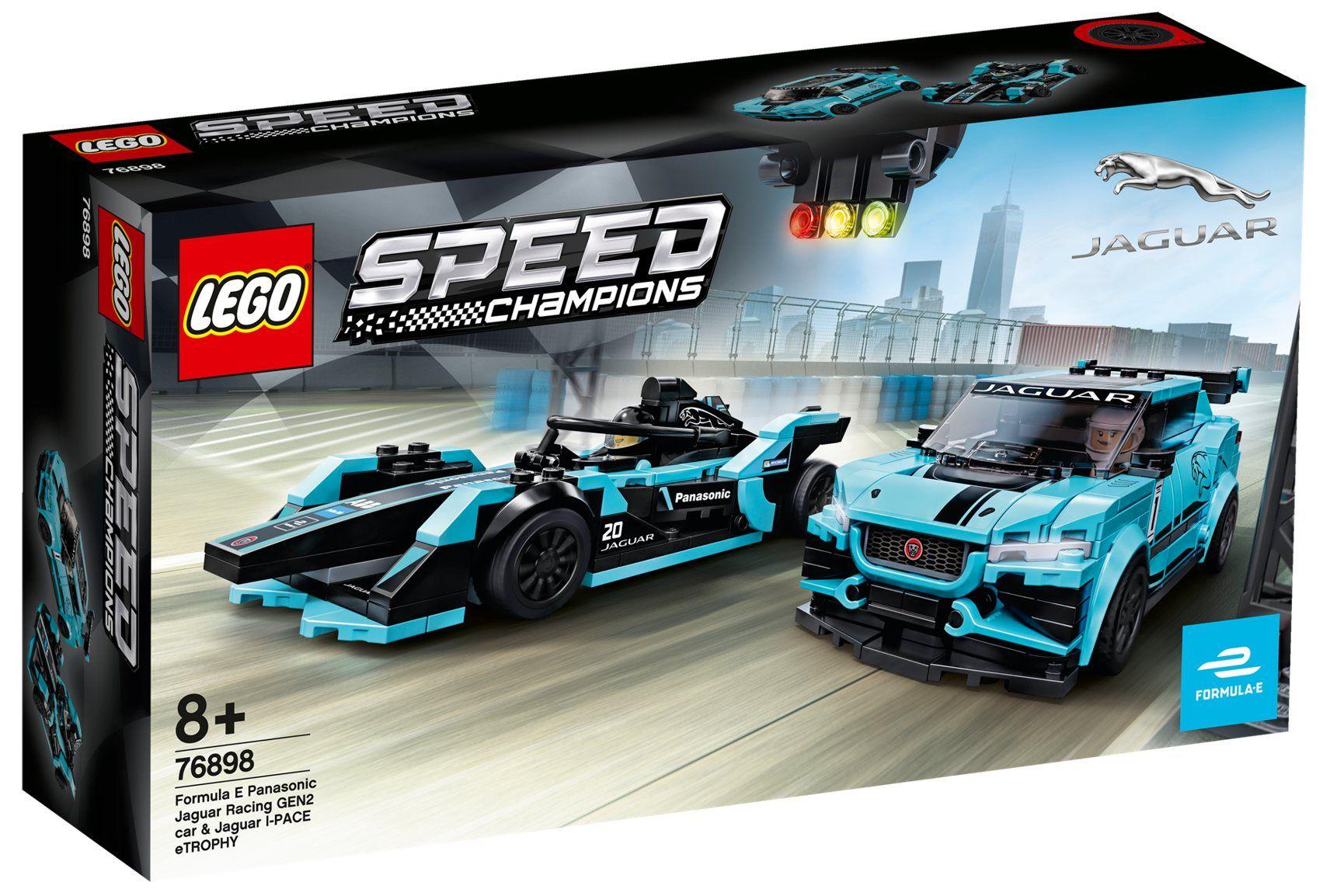 LEGO 76898 Speed Champions - Formula E Panasonic Jaguar Racing GEN2 car i Jaguar I-PACE eTROPHY
