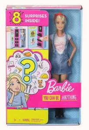 Barbie Lalka Zestaw niespodzianka ubranka