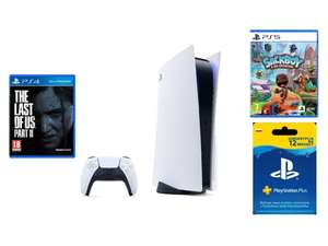 PlayStation 5 + PlayStation Plus subskrypcja na 365 dni + The Last of Us Part II Playstation 4 + Sackboy A Big Adventure! Playstation 5