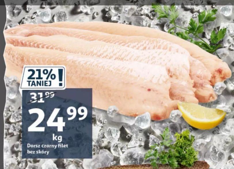 Bardzo dobra cena za filet z Dorsza Czarnego 1kg. Auchan